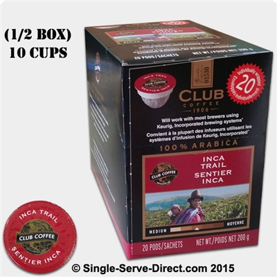 Club Coffee Inca Trail Coffee Filter Pods K Cup