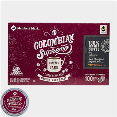 Members Mark Colombian Supremo Coffee Single Serve Cups